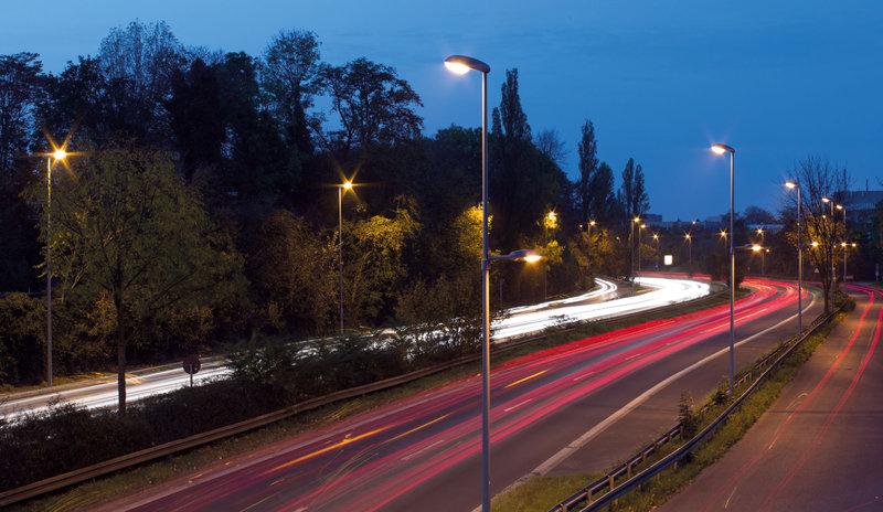 Busy Traffic Road Lighting